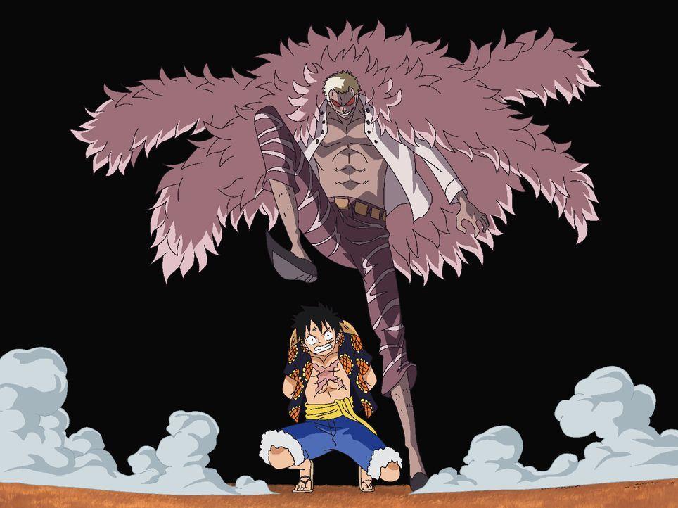 De Flamingo (oben); Ruffy (unten) - Bildquelle: Eiichiro Oda/Shueisha, Toei Animation