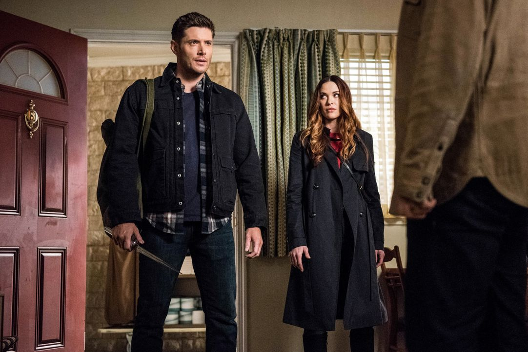 Dean (Jensen Ackles, l.); Schwester Jo alias Anael (Danneel Ackles, r.) - Bildquelle: Dean Buscher 2018 The CW Network, LLC. All Rights Reserved / Dean Buscher