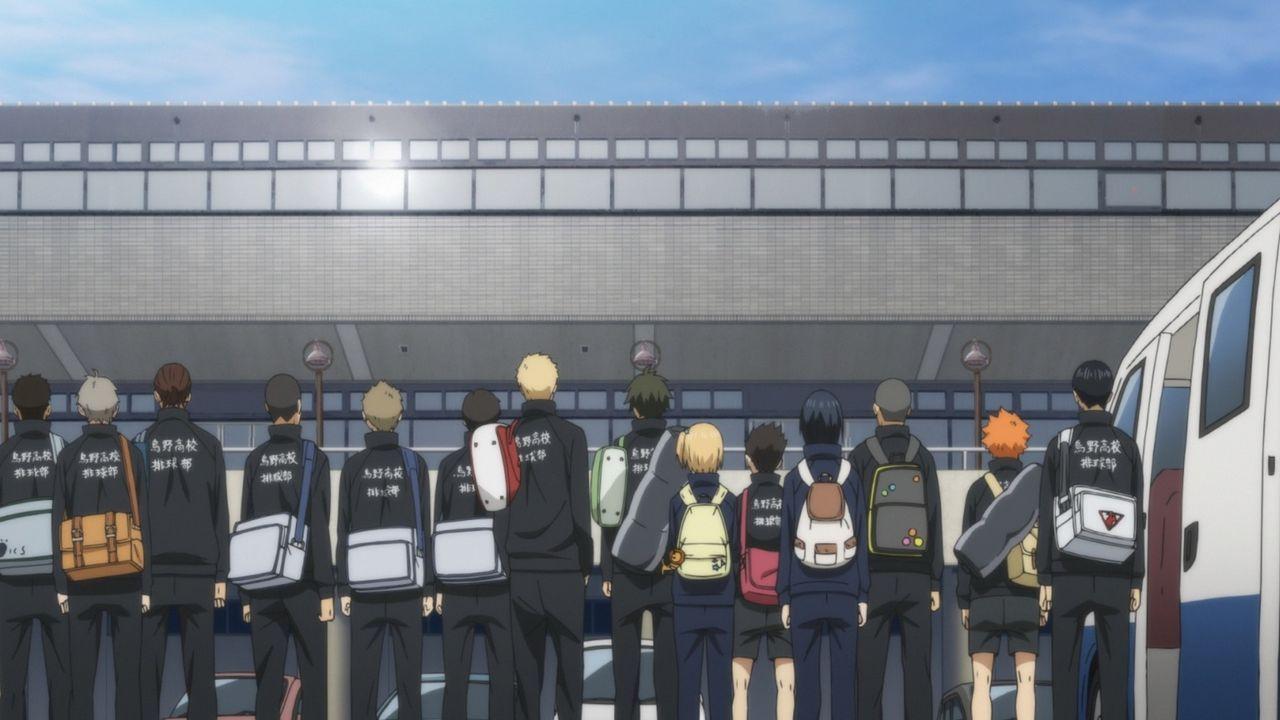 """Das Team der Karasuno Oberschule - Bildquelle: H.Furudate / Shueisha,""""Haikyu!!"""" Project, MBS Instinct"""