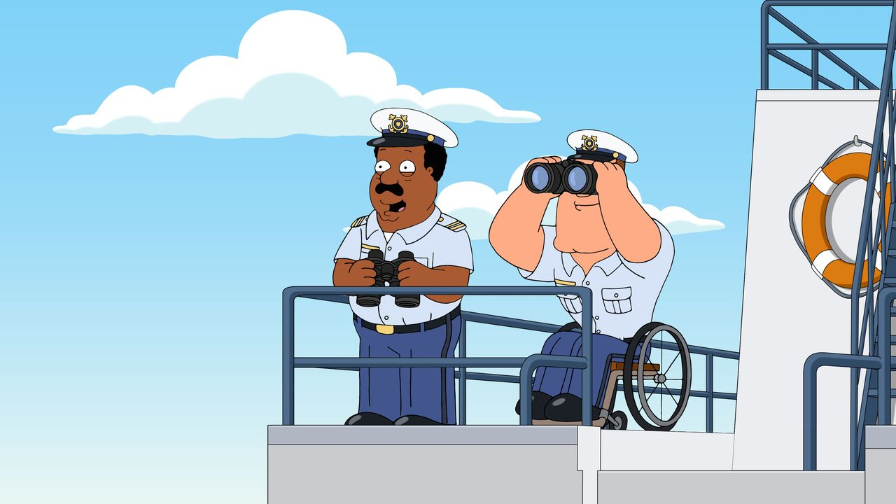 Cleveland Brown (l.); Joe Swanson (r.) - Bildquelle: 2018-2019 Fox and its related entities. All rights reserved.