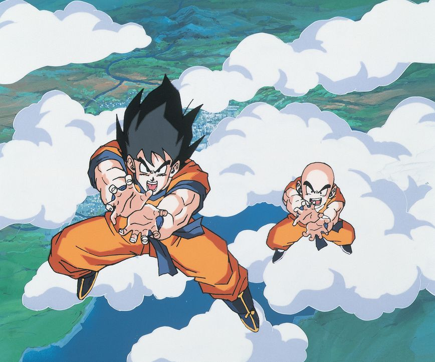 (v.l.n.r.) Son Goku; Killin - Bildquelle: 1991 TOEI ANIMATION CO., LTD.