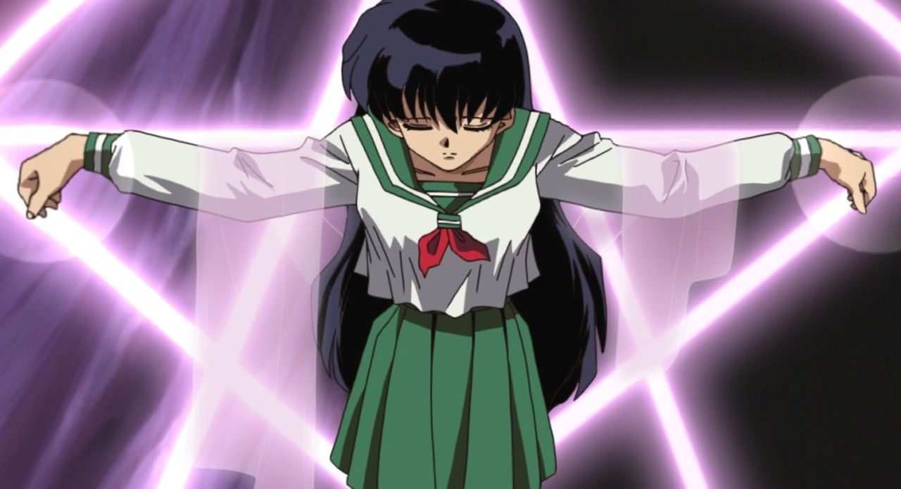 Kagome Higurashi - Bildquelle: 2002  Rumiko Takahashi / Shogakukan-YTV-Sunrise-ShoPro-NTV-Toho-Yomiuri-TV Enterprise All Rights Reserved